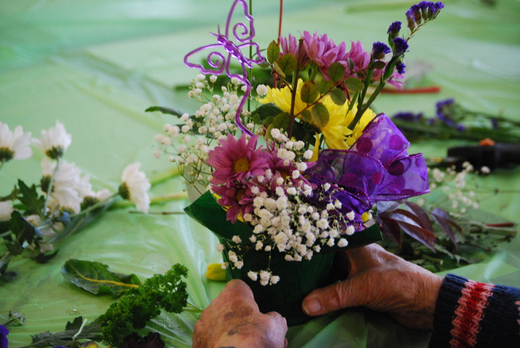 Floral arrangements - Therapeutic Horticulture activity