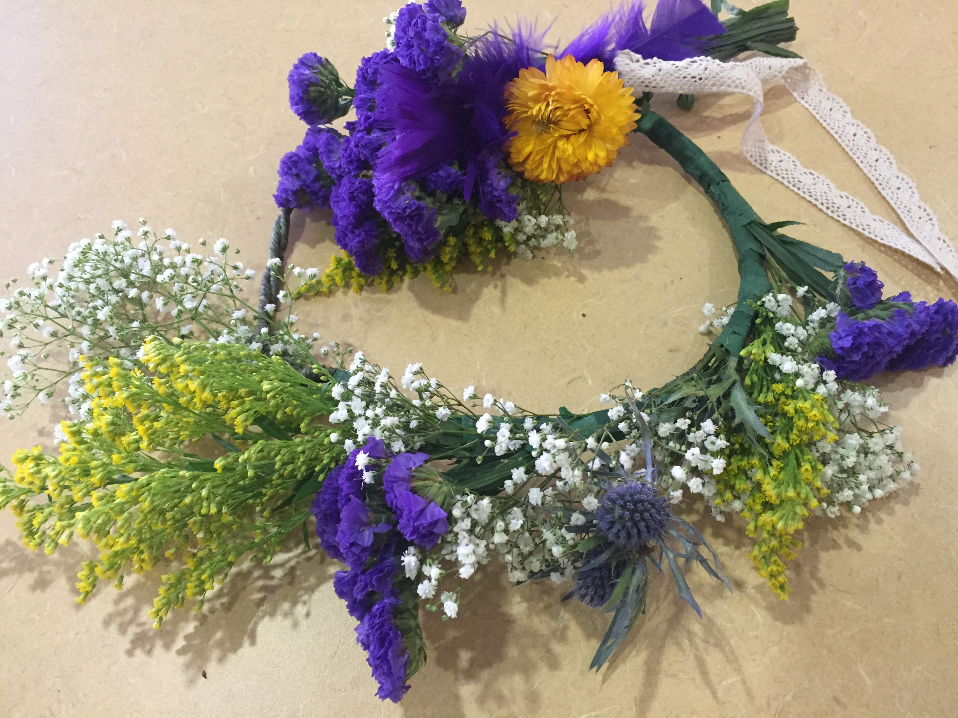 Kentucky Derby Floral Crowns therapeutic horticulture spring programs eatbreathegarden