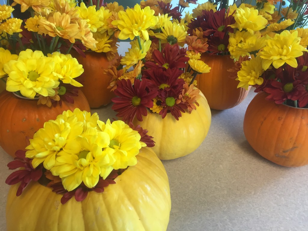 Pie Pumpkin Centerpieces
