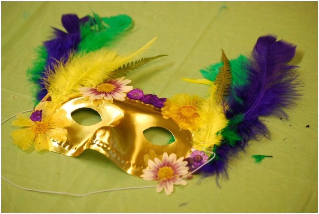 Mardi Gras Floral Masks